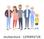 set of different caucasian... | Shutterstock .eps vector #1290896728
