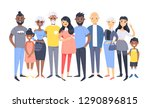 set of different couples and... | Shutterstock .eps vector #1290896815
