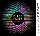 disco lights rainbow geometric... | Shutterstock .eps vector #1290904675