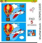 cartoon illustration of finding ... | Shutterstock .eps vector #1290911035