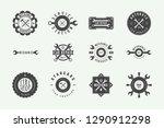 set of vintage mechanic label ...   Shutterstock .eps vector #1290912298