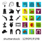 rodeo  competition black flat... | Shutterstock .eps vector #1290919198