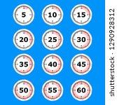 time clock icon set flat design ... | Shutterstock .eps vector #1290928312