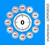 time clock icon set flat design ... | Shutterstock .eps vector #1290928315