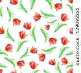Seamless Vivid Tulip Pattern....