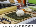 process of making sushi and... | Shutterstock . vector #1290933922