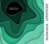 paper cut background. abstract... | Shutterstock .eps vector #1290935305