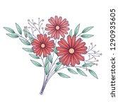 flowers  isolated on white... | Shutterstock .eps vector #1290935605