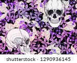seamless pattern with human... | Shutterstock .eps vector #1290936145