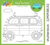 dot to dot drawing worksheet.... | Shutterstock .eps vector #1290938152