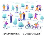 active people in the park.... | Shutterstock .eps vector #1290939685