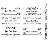 set of vector vintage frames... | Shutterstock .eps vector #1290939712