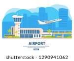airport building horizontal... | Shutterstock .eps vector #1290941062