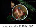 an over head shot of tom yum... | Shutterstock . vector #1290941605