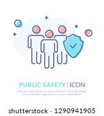 public safety flat icon | Shutterstock .eps vector #1290941905