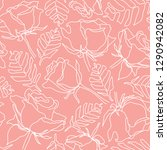 seamless pattern with hand... | Shutterstock .eps vector #1290942082