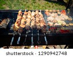 delicious barbecue. tasty... | Shutterstock . vector #1290942748