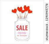 valentine's day sale banner.... | Shutterstock .eps vector #1290945778