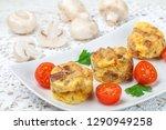 omelette with mushrooms ... | Shutterstock . vector #1290949258
