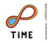 hand draw endless time icon in... | Shutterstock .eps vector #1290951028