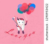 love you tooth. vector...   Shutterstock .eps vector #1290953422