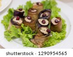 eggplant dish. stuffed with pate | Shutterstock . vector #1290954565