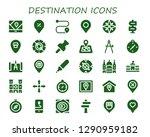 destination icon set. 30... | Shutterstock .eps vector #1290959182