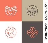 vector set of logo design... | Shutterstock .eps vector #1290963655
