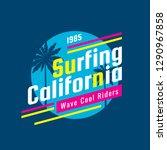 surfing california   concept...   Shutterstock .eps vector #1290967858