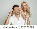 young beautiful smiling bolnde... | Shutterstock . vector #1290969808