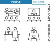 people icons. professional ... | Shutterstock .eps vector #1290972625