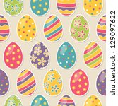 seamless pattern with easter... | Shutterstock .eps vector #129097622
