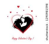 vector illustration of a loving ... | Shutterstock .eps vector #1290981598