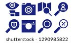 zoom icon set. 8 filled zoom... | Shutterstock .eps vector #1290985822