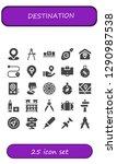 destination icon set. 25... | Shutterstock .eps vector #1290987538
