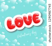 poster for valentine's day or... | Shutterstock .eps vector #1290987745