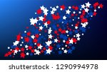 colours of american flag. usa...   Shutterstock .eps vector #1290994978
