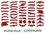 big pack of vintage embroidered ... | Shutterstock .eps vector #1290996898