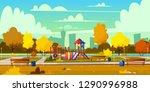 vector background of cartoon... | Shutterstock .eps vector #1290996988