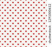 red hearts seamless pattern.... | Shutterstock .eps vector #1291000612