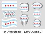 flag of chicago  illinois   Shutterstock .eps vector #1291005562
