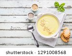 vegetarian white cauliflower... | Shutterstock . vector #1291008568