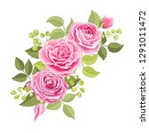 the rose elegant card.... | Shutterstock .eps vector #1291011472