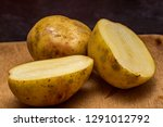 close up o f potatoes on a... | Shutterstock . vector #1291012792