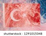 turkish flag background   Shutterstock . vector #1291015348