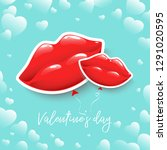 poster for valentine's day or... | Shutterstock .eps vector #1291020595