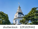 maryland state capital dome in... | Shutterstock . vector #1291029442