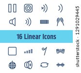 sound icon set and stop with...