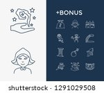 imagination icon set and bomb...