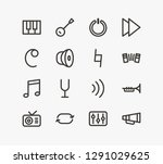 music icon set and volume with...